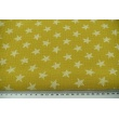 Double gauze 100% drawn stars on a mustard background