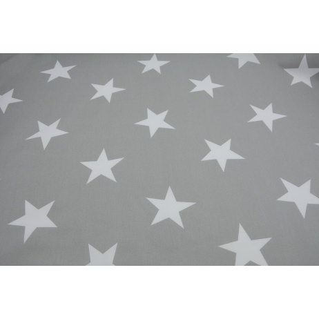 Cotton 100% big stars on a light gray background