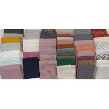 Fabric bundles No. 9 AB 40cm double gauze, waffle, linen