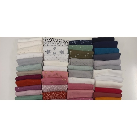 Fabric bundles No. 11 AB 20cm x 50pcs  double gauze
