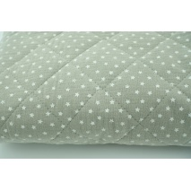 Quilted double gauze 100% cotton in stars on beige.