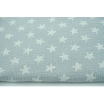 Double gauze 100% drawn stars on a gray background