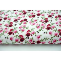 Double gauze 100% roses on a white background