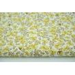 Cotton 100% mustard flowers, brown twigs, poplin