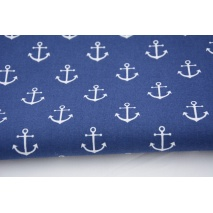 Cotton 100% anchors on a navy background