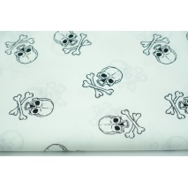 Cotton 100% skulls L on a white background, poplin