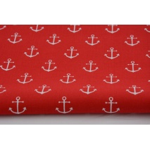 Cotton 100% anchors on a red background