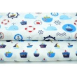 Cotton 100% ships, sailboats on a blue background, poplin