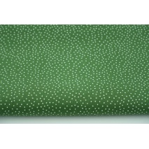 Cotton 100% confetti on dark green background, poplin