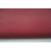 Cotton 100% microdots on bordeaux background, poplin