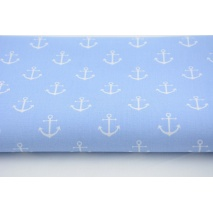 Cotton 100% anchors on a blue background