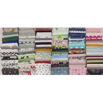 Fabric bundles No. 14 AB 20cm x 176pcs