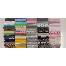 Fabric bundles No. 15 AB 20cm x 121pcs