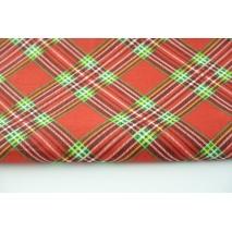 Bawełna 100% świąteczna czerwona krata