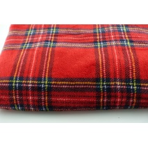 Double sided fleece, red check
