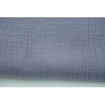 Double gauze 100% cotton, plain dirty purple