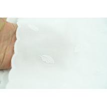 Bawełna 100%, popelina haftowana w liście