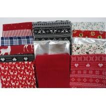 Fabric bundles No. 28 AB 40cm 15pcs.