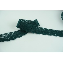 Cotton lace 28mm in a dark green