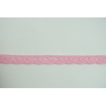 Cotton lace 15mm in a pink color (wave) (darker shade)