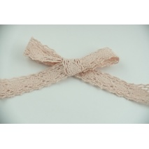 Cotton lace 23mm in a powder pink color