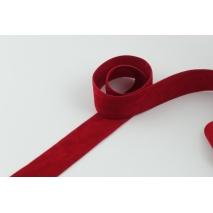 Tasiemka zamszowa 25mm czerwona