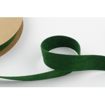 Velvet ribbon 25mm green