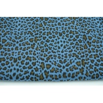 Double gauze 100% cotton panther pattern on a dark blue background