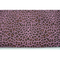 Double gauze 100% cotton panther pattern on a dark heather background