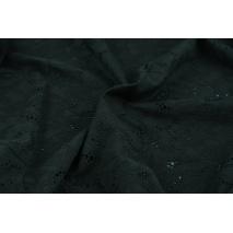 Cotton 100% embroidered black ornament