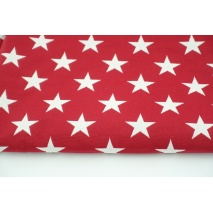 Jacquard double face stars red white