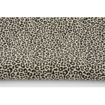 Cotton 100%, mini panther on sand background, poplin