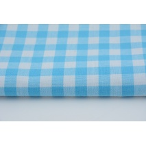 Cotton 100% 10mm double-sided turquoise vichy check