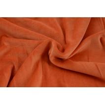 Knitwear velour, papaya