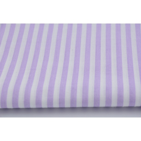 Bawełna fioletowe paski 5mm