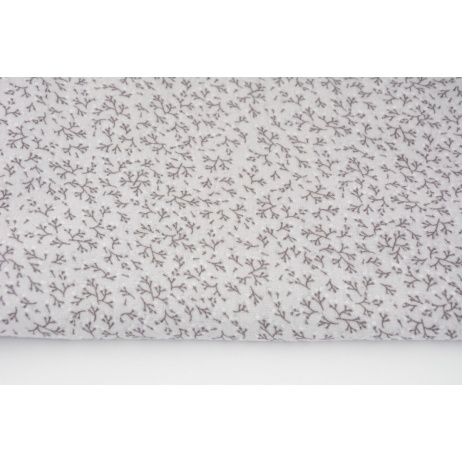 Double gauze 100% twigs on a gray background