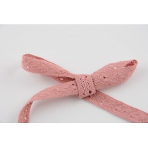 Cotton lace dark pink 12mm x 5m