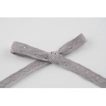 Cotton lace gray 12mm x 5m