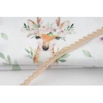 Cotton lace 10mm in a beige color