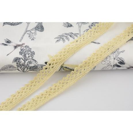 Cotton lace, vanilla 12mm x 5m