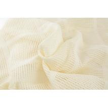 Cotton 100% openwork fabric, ecru