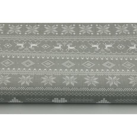 100% Cotton scandinavian pattern on a gray background