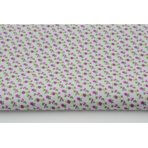 Cotton 100% mini roses on a gray background, poplin