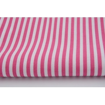 Cotton 100% magenta stripes 5mm