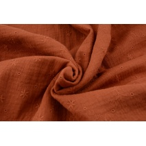 100% cotton, double gauze embroidered A, ginger