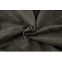 Muślin bawełniany haftowany A khaki