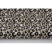 Cotton 100% leopard print M on a beige background, poplin