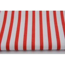 Bawełna paski czerwone 5mm/10mm