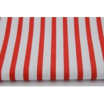 Cotton 100% red stripes 5mm/10mm