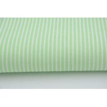 Bawełna pistacjowe paski 2x1mm na białym tle